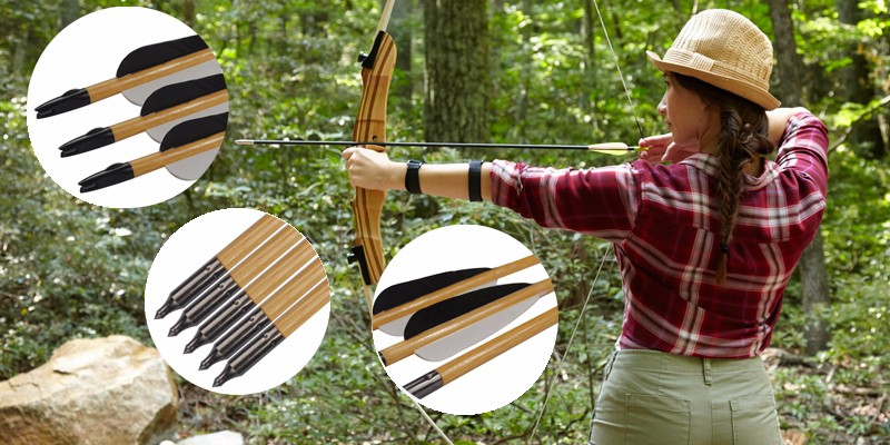 wood arrow for tranditional bow