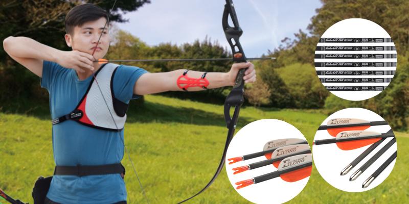recurve bow carbon arrow
