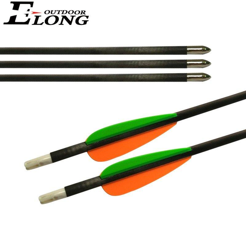 4.2mm Carbon Arrow For Compound Bow Hunting Arrows With Plstic Vane 110 Grain Bullet Points Bow And Arrow Compound