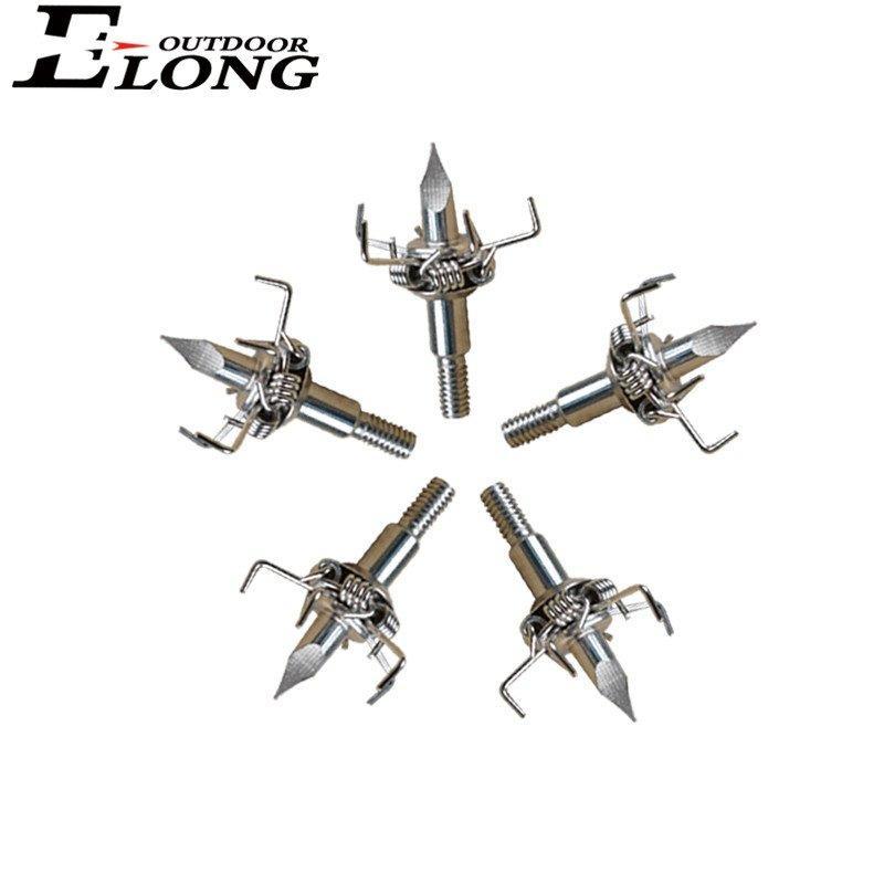 Five Claws Arrow Broadhead Point for Carbon Fiberglass Arrow Bolt & Archery Bow Hunting Small Animal
