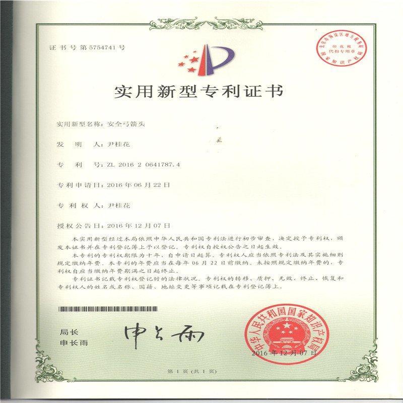 Patent of Safe Arrow Head