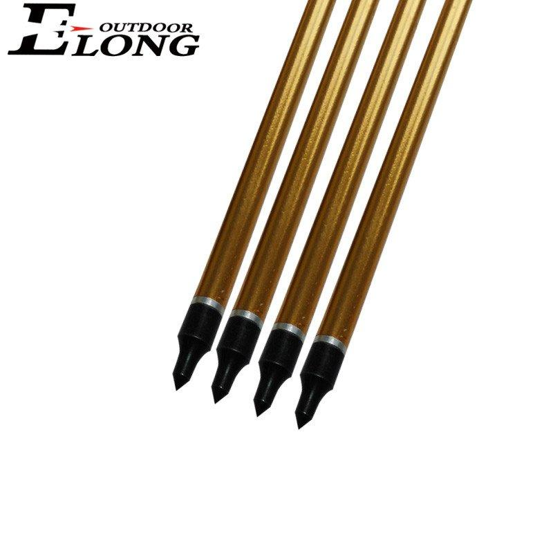 Aluminum Gold Coating Arrow for Hunting &Outdoor Shooting Sports