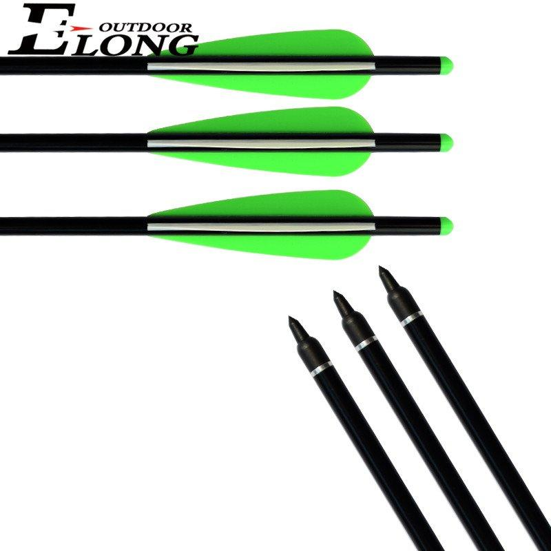 18 Inch Aluminum Crossbow Bolts Arrow With Field Point Insert And W Lighted Nock Crossbow Arrows