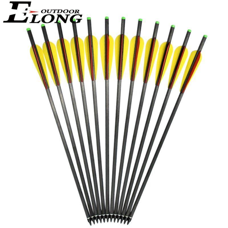 Best Crossbow Bolt 20 Inch Crossbow Carbon Arrow With 4 Vane Half Moon Arrow