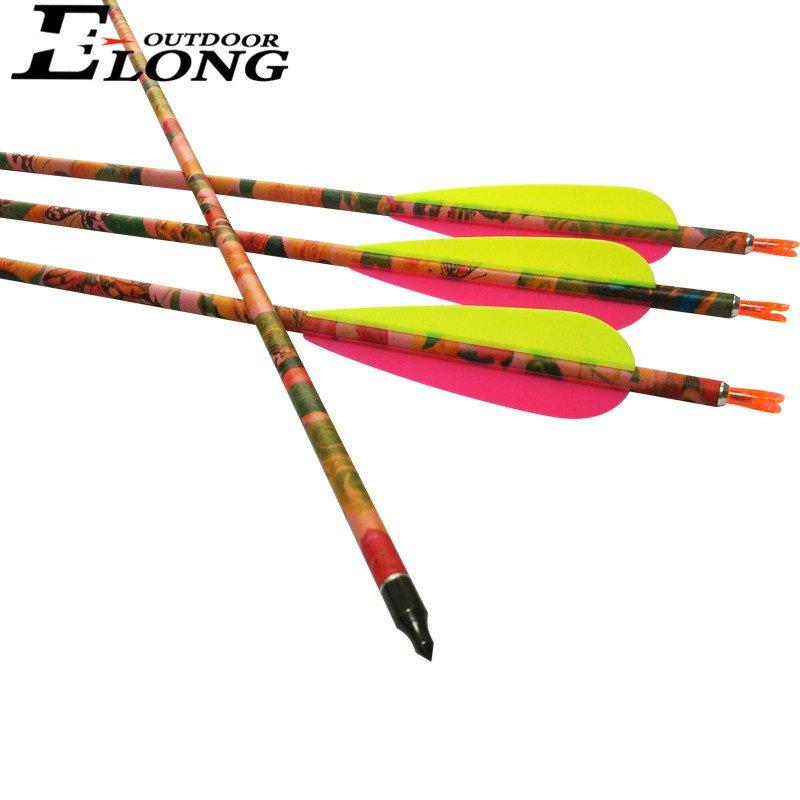 Spine 400 Archery Hunting & Shooting Pink Camo Pure Carbon Arrow for Women Archery