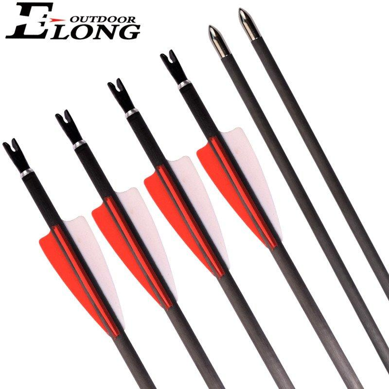 Hunter Arrow I.D. 4.2mm Spine 300-1000 Carbon Arrow For Archery Recurve Bow Hunting