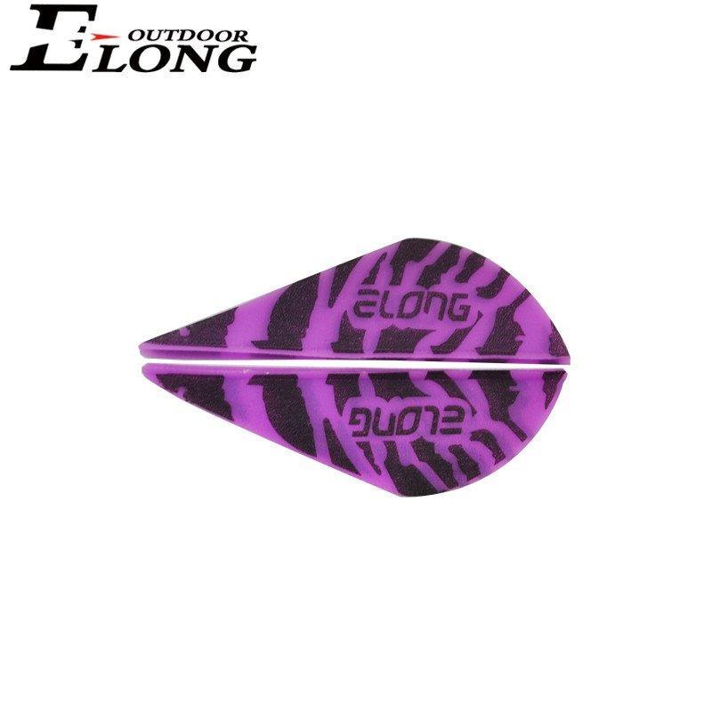 Elong Tiger Stripe Arrow Vanes HP Vane For Hunting Arrows