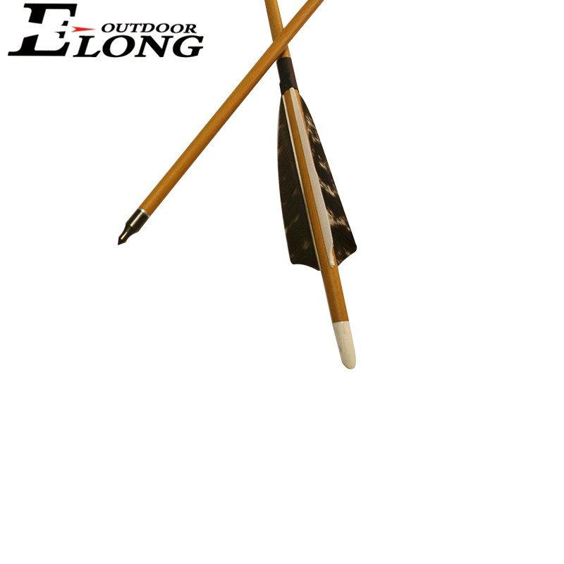 High Performance 30 Inch Carbon Arrows With Real Feather Changeable Arrowhead Archery Hunting Arrows