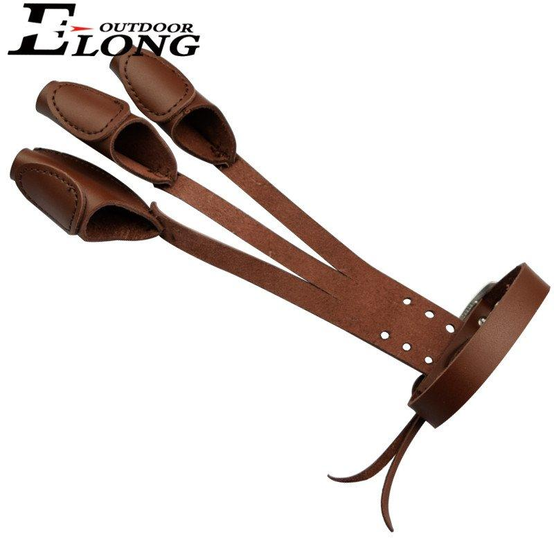 Brown Col Archer's Shooting Gloves Finger Protector Hand Glove