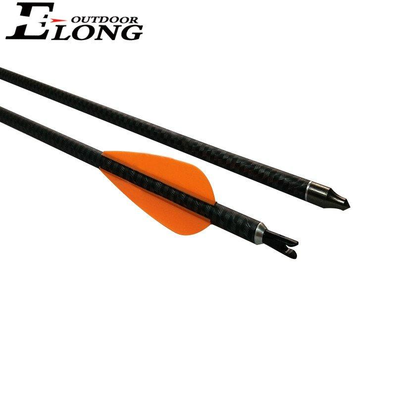 30 Inch 3K Camo Pure Carbon Arrow With ChangeableThread Points For Outdoor Hunting