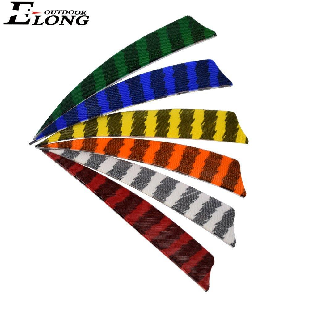 4 Inch Stripe Col Turkey Feather For Archery Arrows Hunting Practice