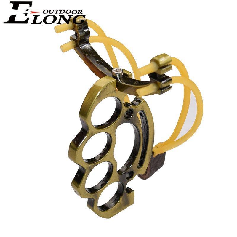 Best Slingshot With Round Rubber Bands Antique Brass Col Of Archery Hunting Slingshot