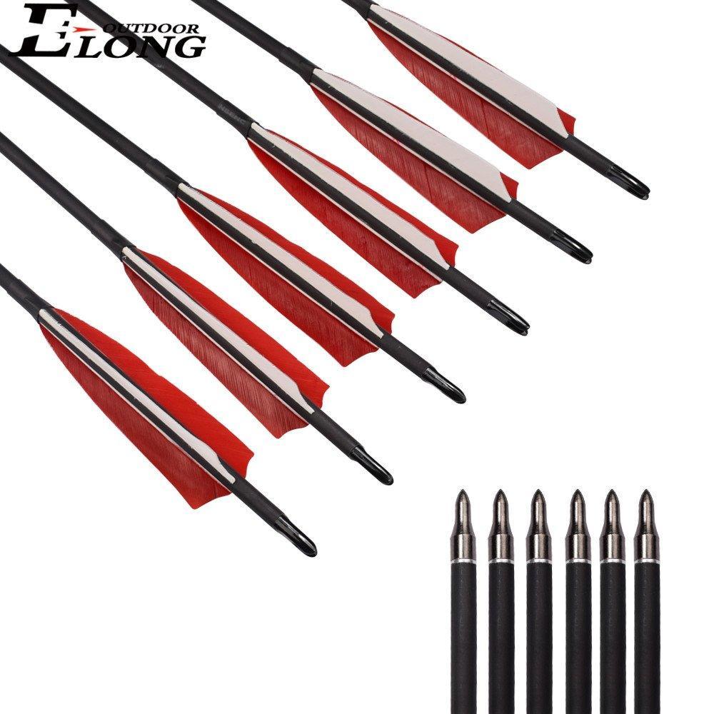 Fiberglass Roll Turkey Feather Arrow,  Archery Target Practice Arrows