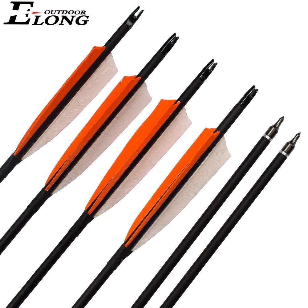 High Quality Fiberglass Roll Arrow With Turkey Feather Vanes Fiberglass Arrow For Outdoor Shooting