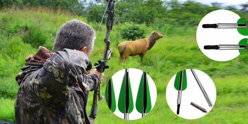 archery equipment, aluminum arrows