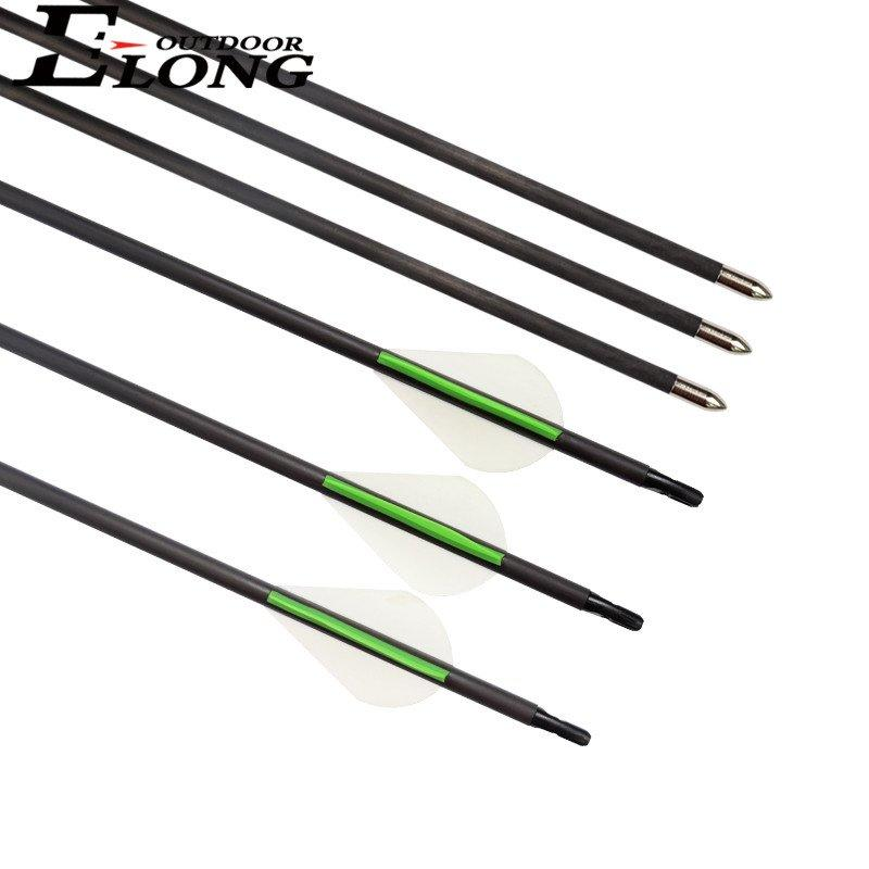 Elong Compound Bow Arrow With Fixed Bullet Point Archery Carbon Arrows