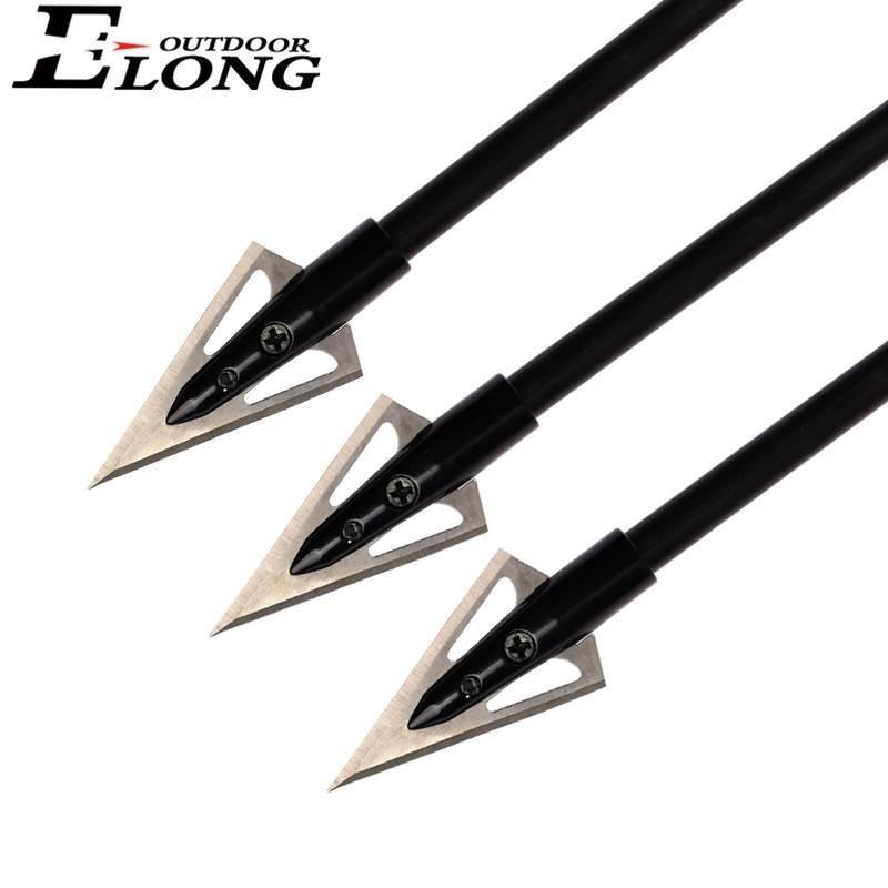 Black Color Stinger Arrow Broadhead Point  Hunting For Shootig Archery Bow