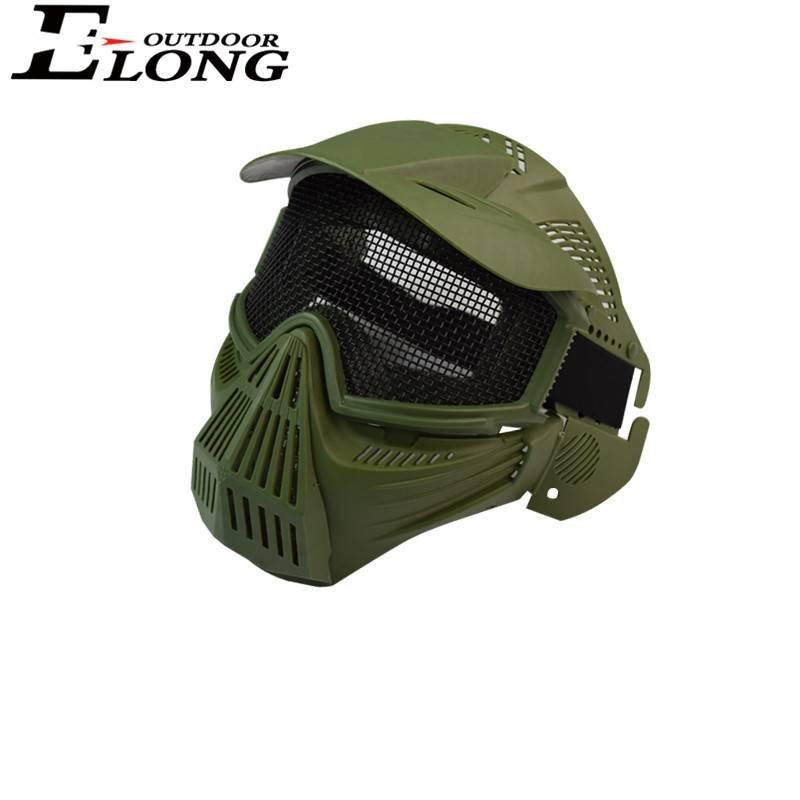 CS Archery Game Green Arrow Face Mask Metal Mesh Goggles