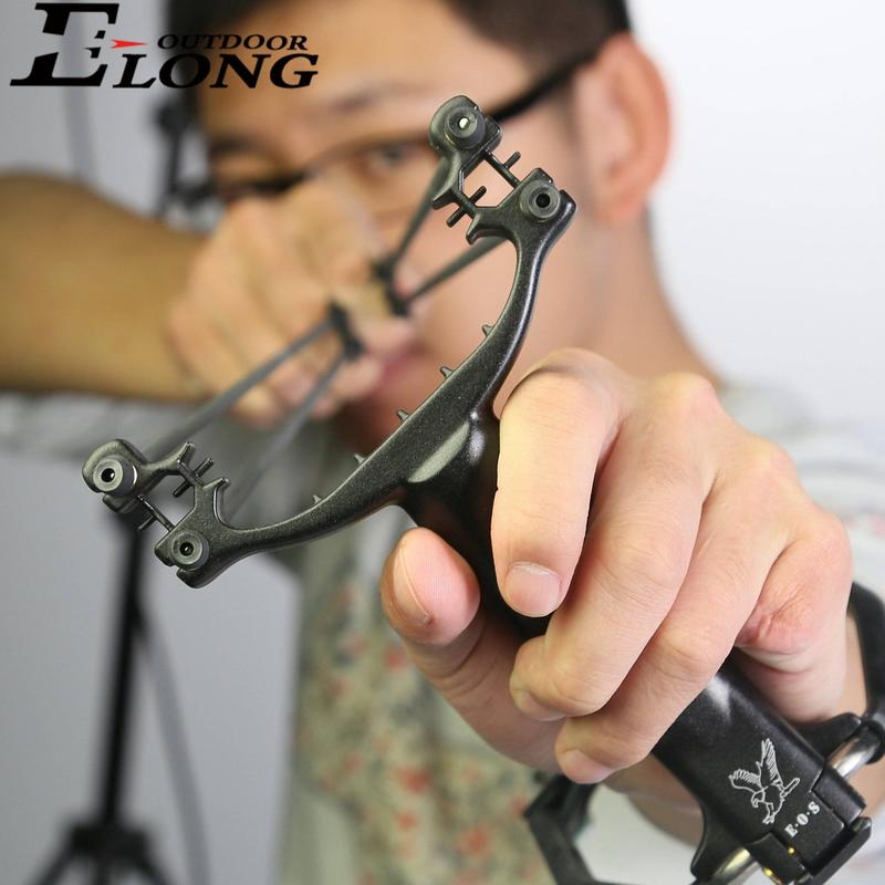Removerable  Black Color Archery Slingshot Best Slingshot For Outdoor Shooting Archery Hunting