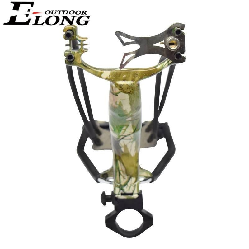 High Quality Archery Slingshot With Camo Coated Wrist Catapult Hunting Slingshot In Outdoor Shooting
