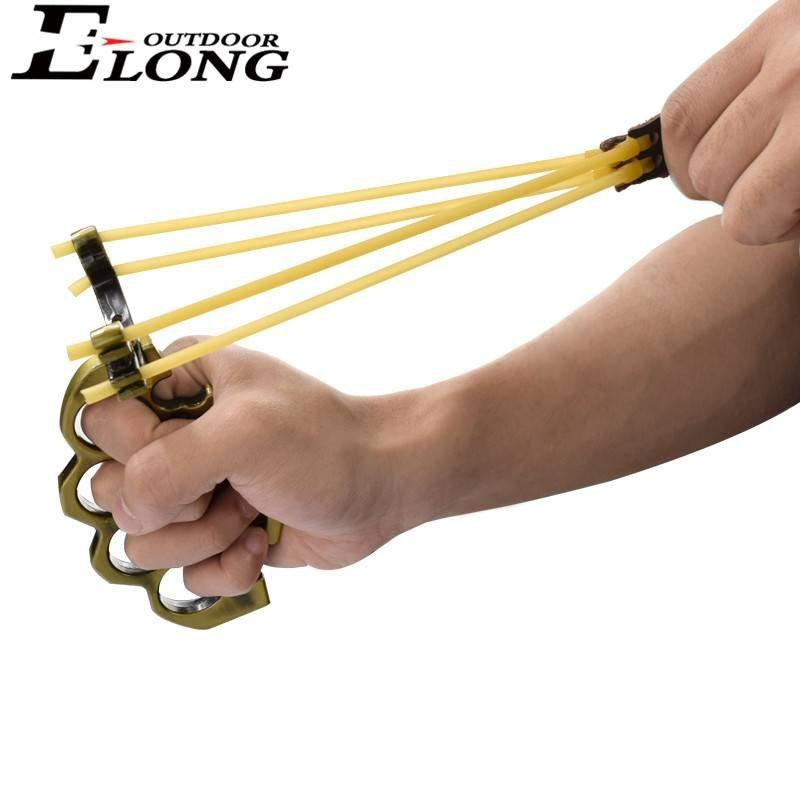 Best Slingshot With Round Rubber Bands Antique Brass Col Of Archery Hunting Slingshot