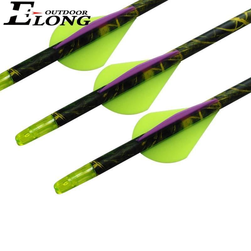 Best Carbon Hunting Arrows With Camo Shaft 30 Inch Pure Carbon Arrows For Recurve Bow