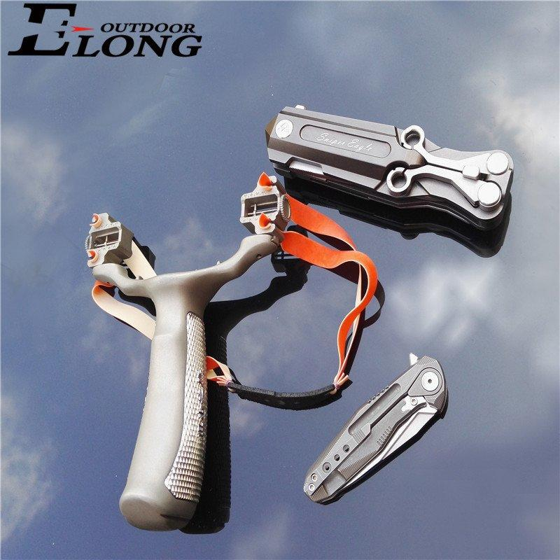 Best Slingshot Adjustable Steel Slingshot With Quality Rubber Bands For Hunting or Target Practice