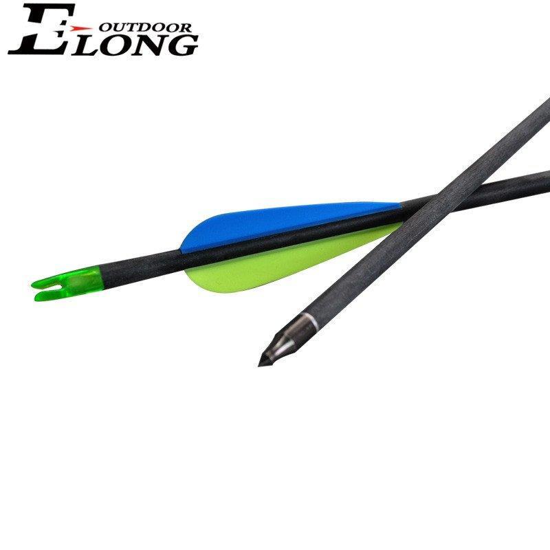 Elong Fletching Carbon Arrows Carbon Target Arrows For Outdoor Shooting