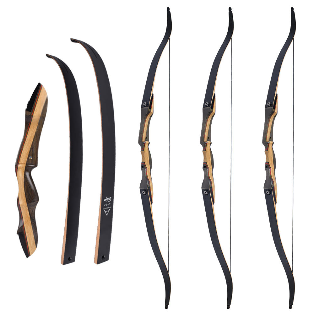 Elong Recurve Bow Wooden Riser Limb Fiberglass Right Hand Archery Bow for Sale