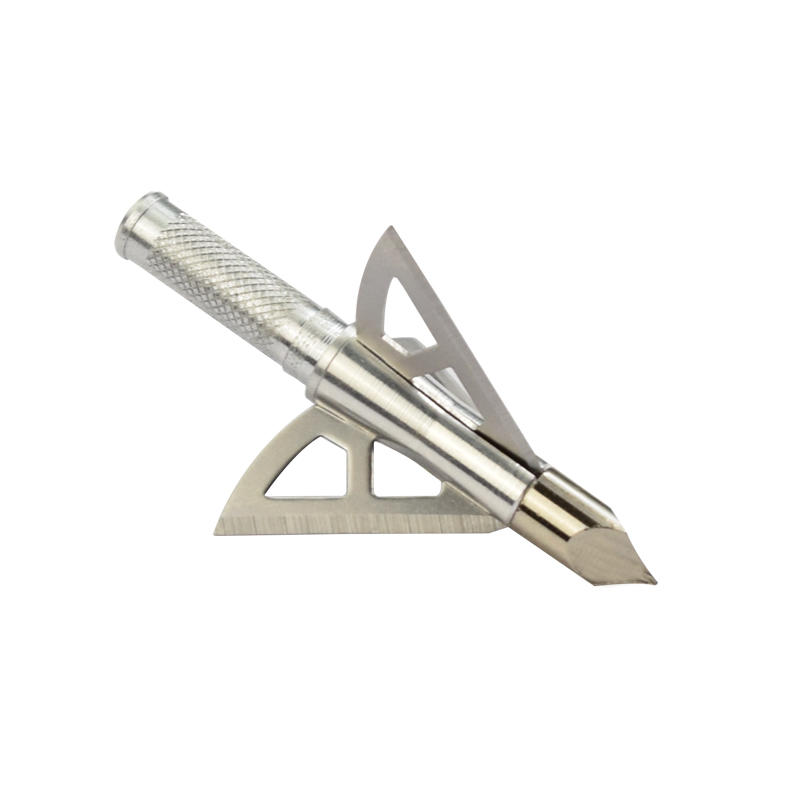 Stainless Steel Hunting Broadhead Points Arrowheads 3 Fixed Blade 100 Grain For Archery Compound Bow