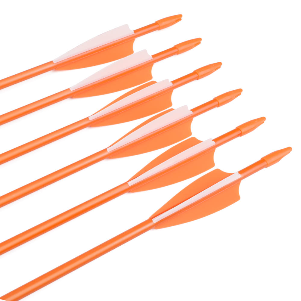Hunting Youth Arrow With 3 TPU Vane&Bullet Point For Archery Fiberglass Arrow
