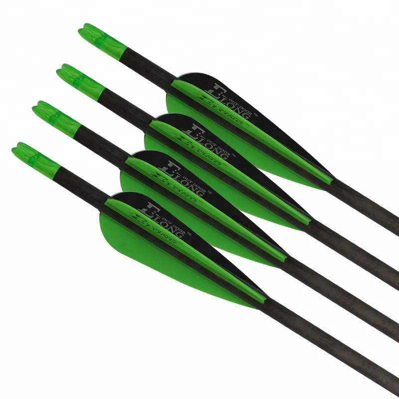 Vanes Green and Black Color China Compound Bow Archery Targets Hunting Bow and Arrow