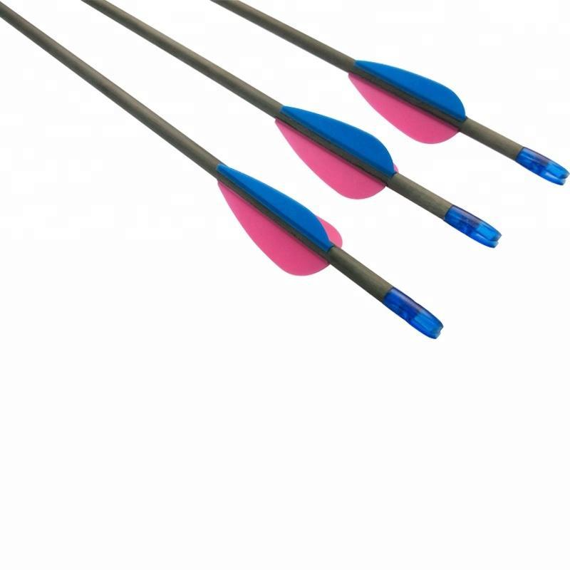CX-7 Carbon Fiber Arrow For Archery 3D Target Shooting,SP300-SP1100 For carbon arrows