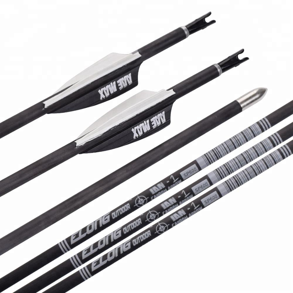 Recurve Bow Competition Target Shooting 4.2mm Archery Pure Carbon Arrows