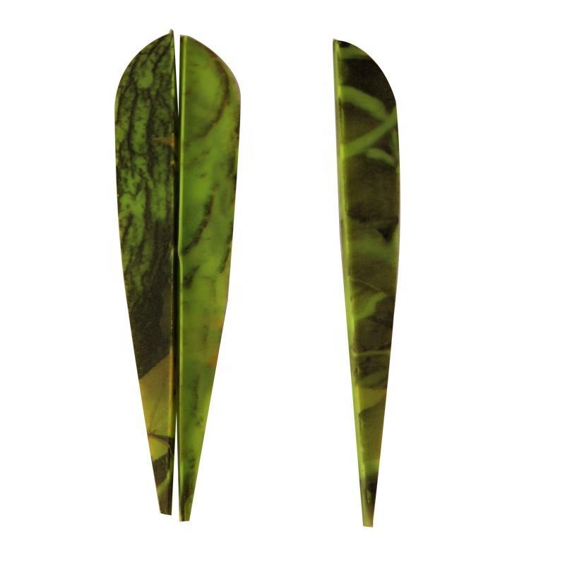 TPU Vane for Arrow Bow Hunting Archery 4 inch Plastic Green Camo Streamline Arrow Vanes
