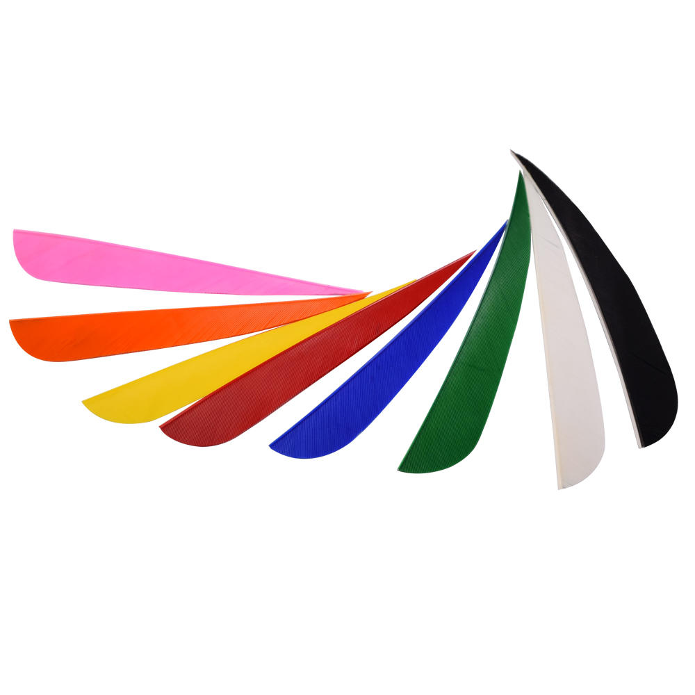 8 Colors Streamline Turkey Feather Fletching As Archery Arrow Accessories Vane