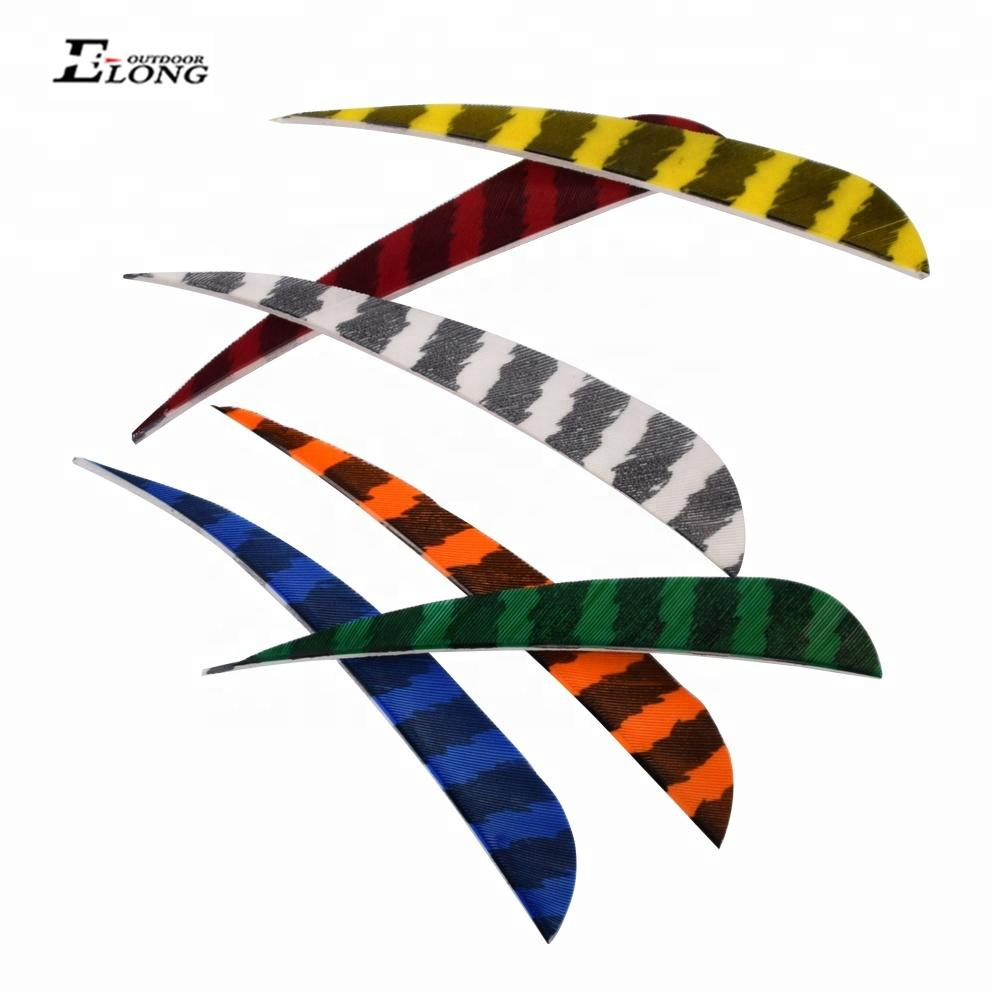 Archery Arrow Real Feathers With Various Colors Streamline Feather Fletching For Archery Arrow
