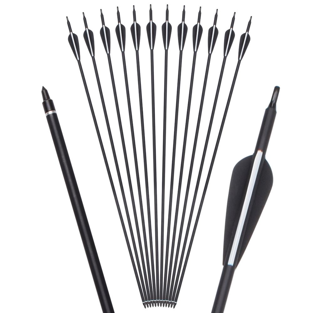 Direct Price Archery Recurve Bow Shooting Plastic Feather 30'' Or Custom Roll Fiberglass arrow