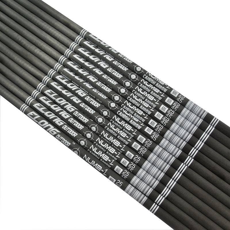 ELONG Pure Carbon Fiber Shaft I.D.4.2mm 32 inch Roll Tube DIY Arrow Use