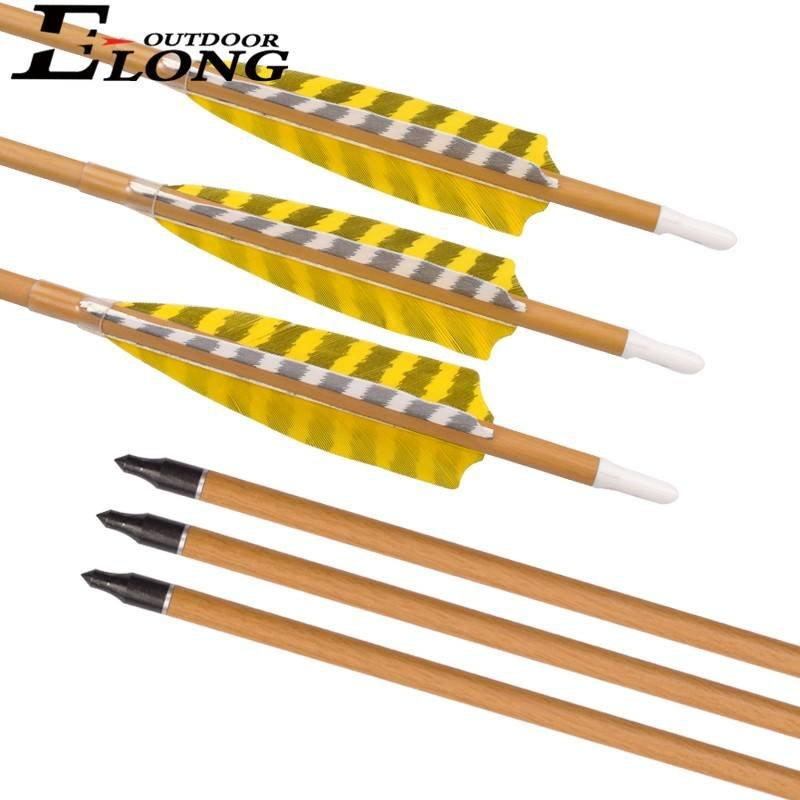 500 Spine Traditional Carbon Arrows with Camo Wood Grain For Hunting