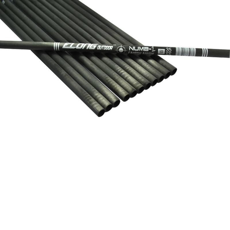 Elong Arrow Tube Black Col Carbon Arrow Shafts For Arrow Shooting Spine 340-600 Carbon Fiber Shafts Outdoor Archery