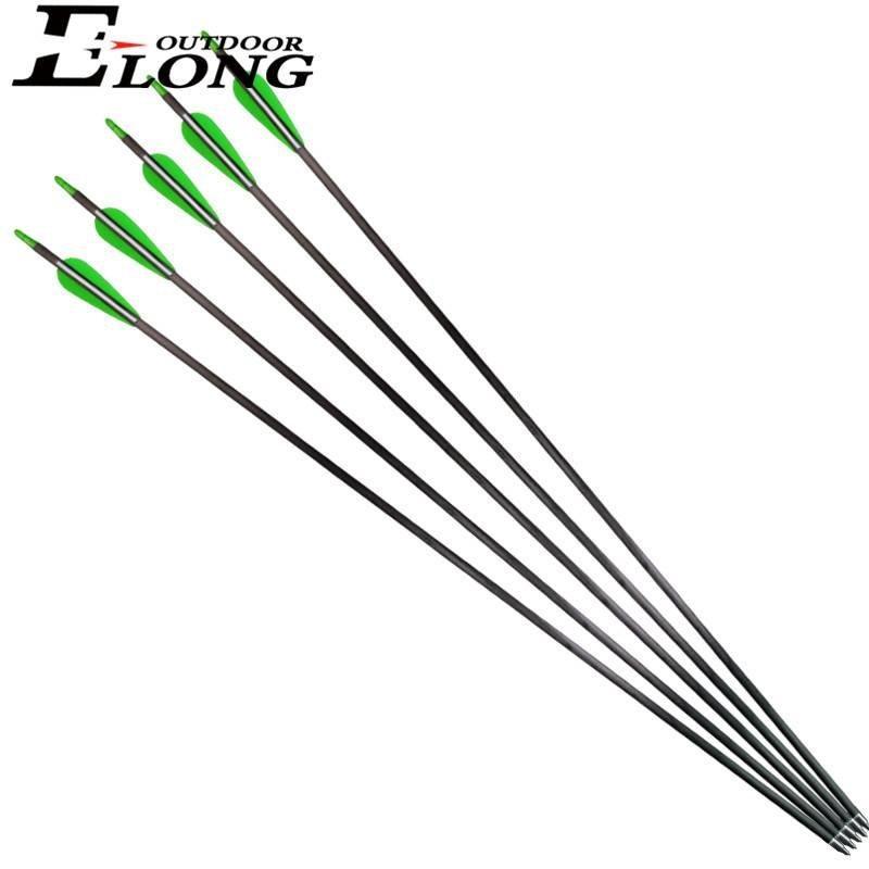 Custom Cut Best Carbon Hunting Arrows Compound Bow Arrow 32 Inch Carbon Arrows
