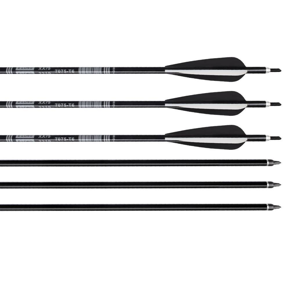 Black Aluminum Shaft  Aluminum Arrows With Plastic Vanes